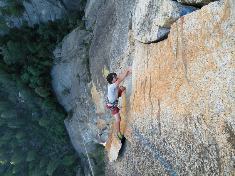 Rock Climbing Photo: TRing the Alian Finish