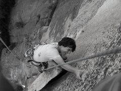Rock Climbing Photo: Tring the alien finish