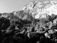 Rock Climbing Photo: Looking up at the Arches from the boulder field