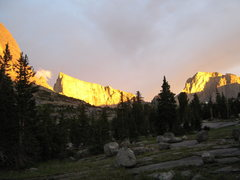 Rock Climbing Photo: Sunset over the Deep lake drainage
