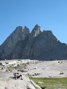 Rock Climbing Photo: Steeple Peak from the East side, walking down the ...