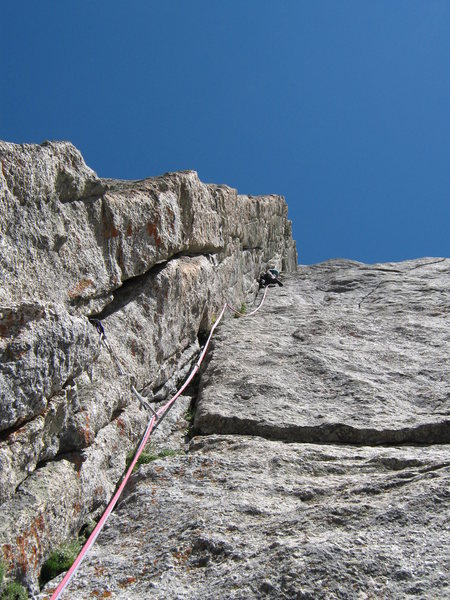 John Bradford leading the dihedral pitch