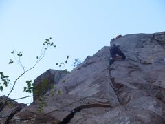 Rock Climbing Photo: Chris Deulen just after the crux on Mr. Lean.