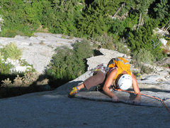 """Rock Climbing Photo: Maura happy to be above the """"House of Cards&q..."""