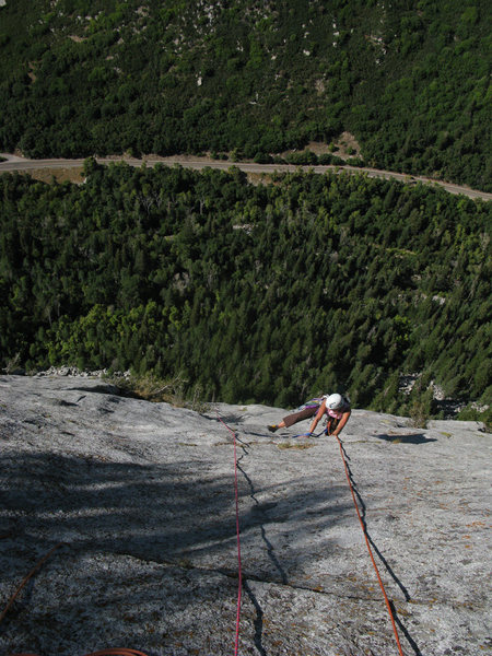Maura on the final pitch of House of Cards, way above the LCC road.