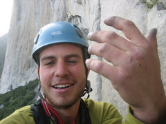 Rock Climbing Photo: Matt P after taking a 30 footer trying to do the 7...