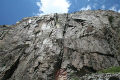 Rock Climbing Photo: The impressive Ophir Wall as seen from the talus f...