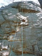 Rock Climbing Photo: Alligator wall (climbs to the left) and Dancing Ma...
