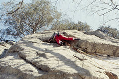 Rock Climbing Photo: Dave Groth on first lead