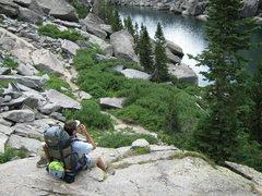 Rock Climbing Photo: On the Jackass Pass Trail