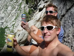 Rock Climbing Photo: What its all about.  Good friends, good beer, and ...