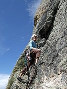 Rock Climbing Photo: Leaving the belay from our 4th pitch of whatever w...