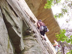 Rock Climbing Photo: follwing Ben on cinnamon girl
