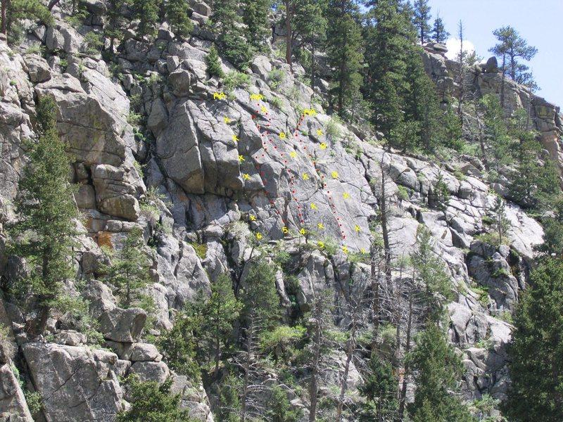 Rock Climbing Photo: 1 - Clocks 5.11b/c 2 - Don't Panic 5.11aR 3 - My.....