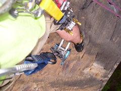 Rock Climbing Photo: top of knife crack
