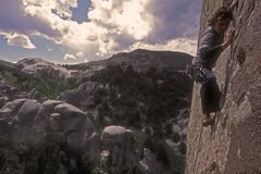 Rock Climbing Photo: Skyeler Congdon on Tribal Boundaries (c) Mick Foll...