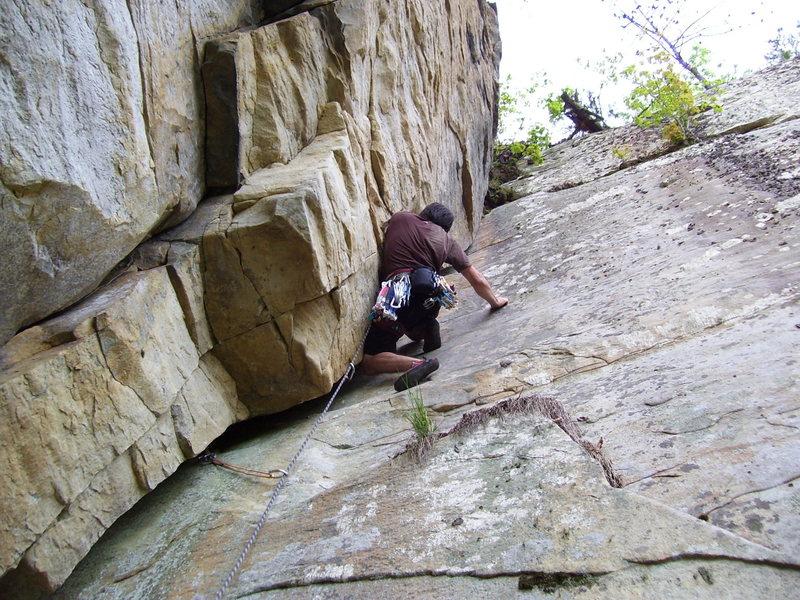 Rock Climbing Photo: me leading dead cow