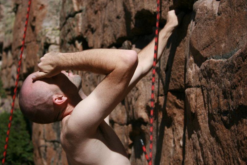 Rock Climbing Photo: Man the sun is bright!!!