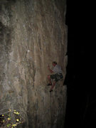 Rock Climbing Photo: Jonny Wilson wishing he had night vision on Blood ...