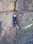 Rock Climbing Photo: The thin start of Zorro.