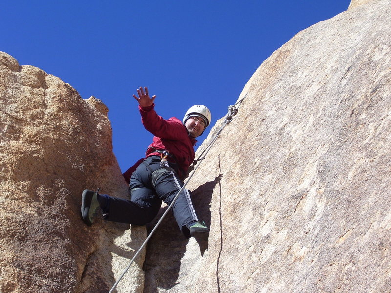 Rock Climbing Photo: Getting high on crack...