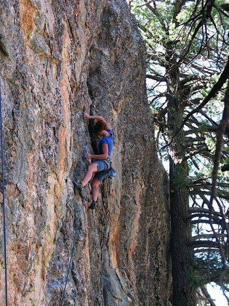 Rock Climbing Photo: Mandatory Doug Testing- red pointing my first 5.11...