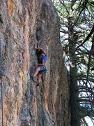 Rock Climbing Photo: Mandatory Doug Testing- red pointing my first 5.11...