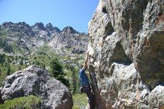 Rock Climbing Photo: Big vistas at Sierra Buttes.