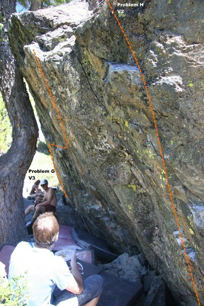 Warm Up Boulder Right Topo
