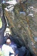 Rock Climbing Photo: Warm Up Boulder Right Topo