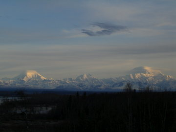 Panoramic view of the Range from Talkeetna