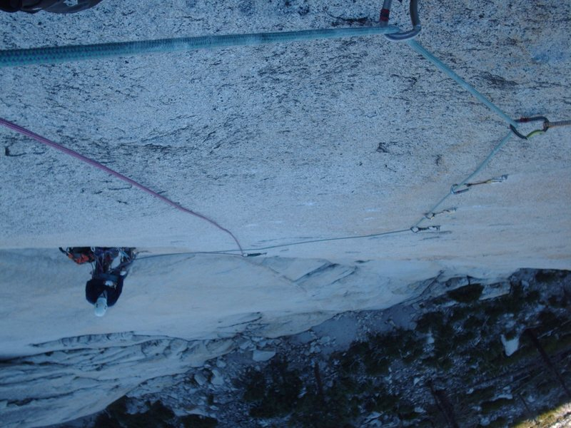 Rock Climbing Photo: bolt ladder or 5.12 friction on pitch three