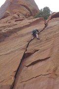 Rock Climbing Photo: Crack Climbing Torrey, UT