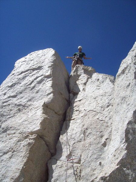 Rock Climbing Photo: The summit of Cathedral peak.  A definite must do ...