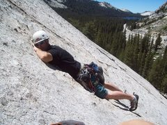 Rock Climbing Photo: Taking a little rest while waiting for the line on...