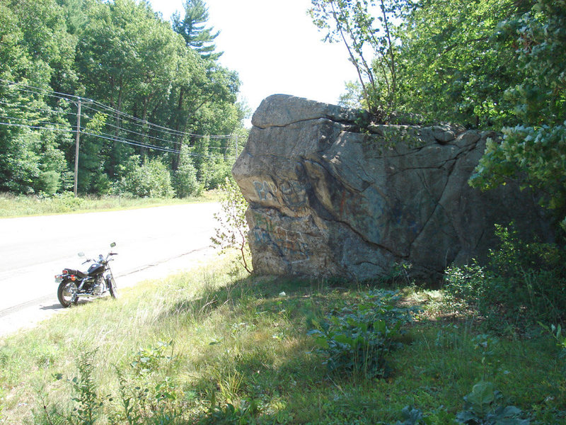 The north side of the main boulder...