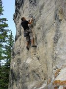 Rock Climbing Photo: Charley Mace on Spearfish limestone