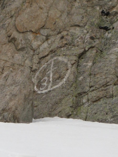 Does anyone know anything about this painted symbol? Found it at the base of the NW face.