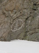 Rock Climbing Photo: Does anyone know anything about this painted symbo...