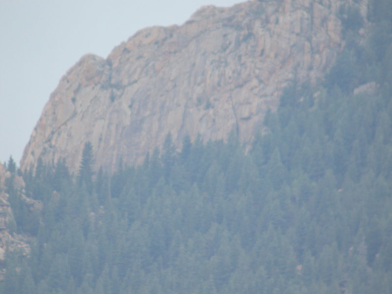Rock Climbing Photo: Took this pic of Tenny Crags with a digiscope I bo...