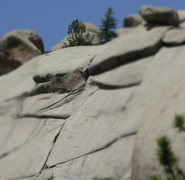 Rock Climbing Photo: Sasha and Courtney on the second pitch of Ed's Cra...