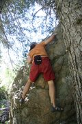 Rock Climbing Photo: Completing Problem A on the Oral Boulder.