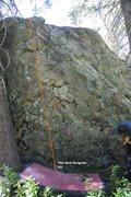Rock Climbing Photo: Oral Boulder Right Topo