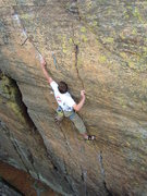 Rock Climbing Photo: C. Treiber looking strong on Whiskey (photo G. For...