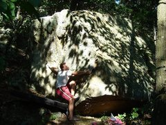 Rock Climbing Photo: The long reach of the probable project I was refer...