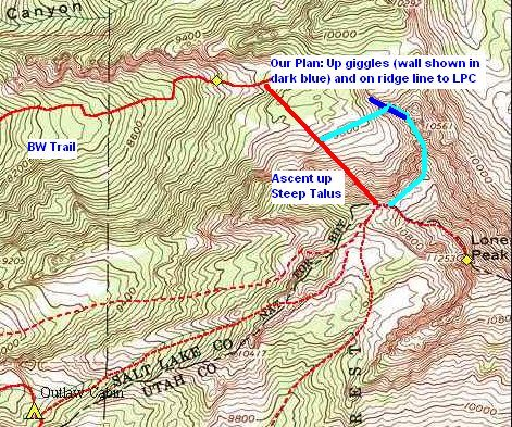 Big Willow to Lone Peak Cirque Trail ideas
