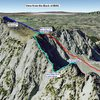 Google Earth of back side of Big Willow Cirque - Route ideas to Lone Peak Cirque