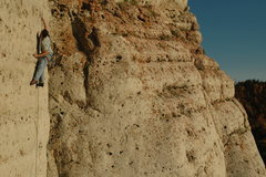 Rock Climbing Photo: On the upper portion of Gaucho. Photo by Robin Kel...
