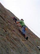 Rock Climbing Photo: Me on Point Dume left route