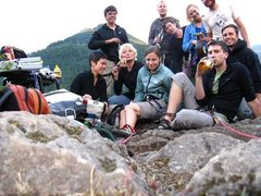 Rock Climbing Photo: It was a happy birthday. This was also atop French...